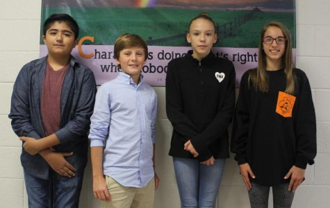 Seventh-grade NJHS officers elected