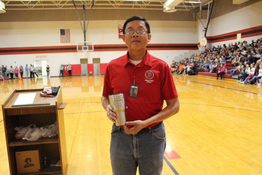 Dan Trinh was the support staff member of the month for September.