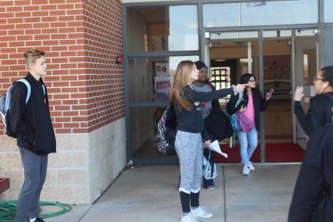 Eighth-graders attend high school enrollment meeting