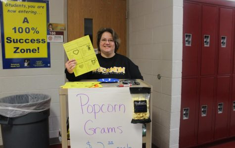 Popcorn grams due by 3 p.m. today
