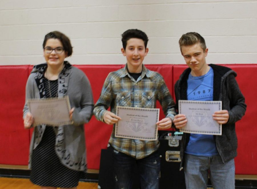 January students of the month recognized in morning assembly