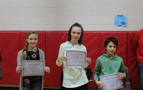 Students, teachers recognized with monthly awards