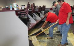 Carpeting replacement underway in computer labs