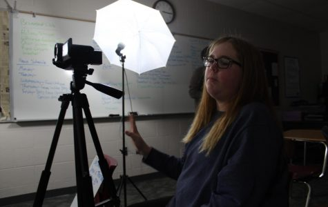 Kenzie Waggoner films the latest DMS News Update.