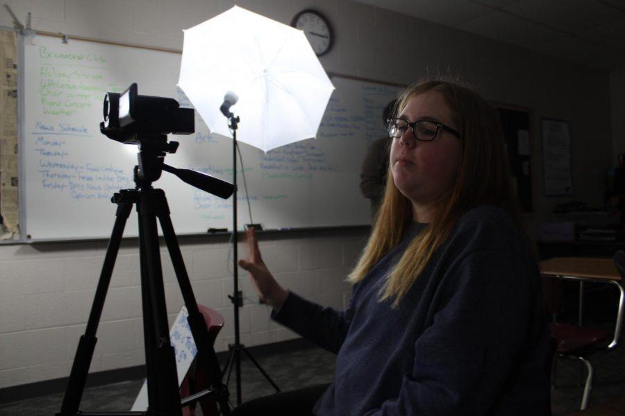 Kenzie Waggoner films the latest DMS News Update.