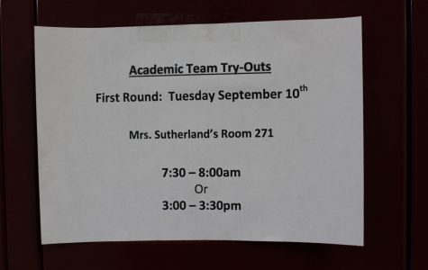Academic Team tryouts get underway