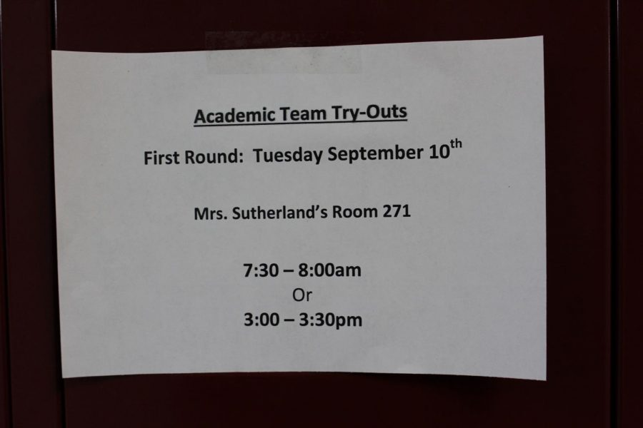 Academic Team tryouts get underway