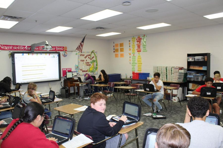 Students gather for their W.I.N. class.