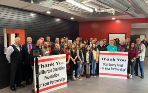 STEM students present to Halliburton staff