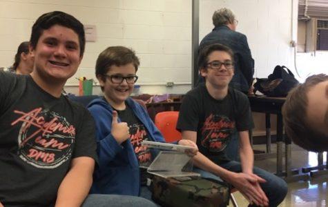 Henry Spoering, Luke McFatridge and Caleb McFatridge are among the team members for the DMS Academic Team.