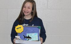 8th Grade science students finishes up first project of the second semester