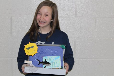 8th Grade science students finish up first semester projects