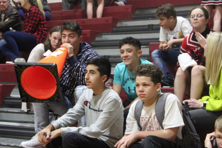 Student section hypes players up