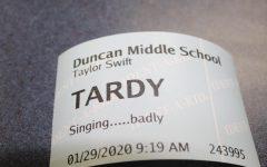 Strutton discusses problem with student tardies