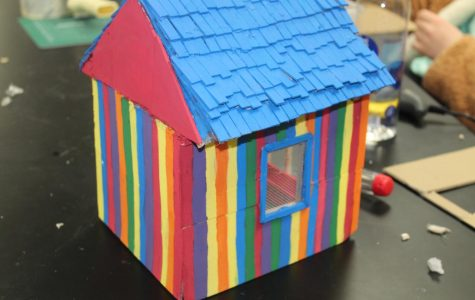 Castle's STEM students finish up their shed projects