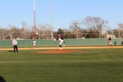 Baseball participates in scrimmage