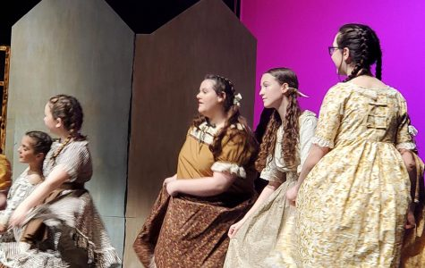 Several middle school students, including Ainsley McEntire, Sadi Blalock and Anavrin Sorenson performed in Duncan Little Theatre's production of