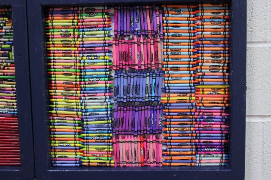 Crayon Quilt out of recycled crayons