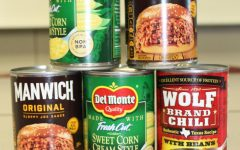 Students are donating cans of food for the National Junior Honor Society canned food drive.