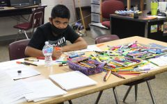 Duncan Middle School art students have been working on different art projects all semester.