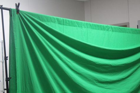 The STEM green screen is being used by sixth-grade STEM students for a project in class.