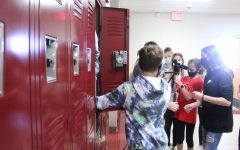 Seventh-grade students film a short skit as part of Anti-Bullying Week.