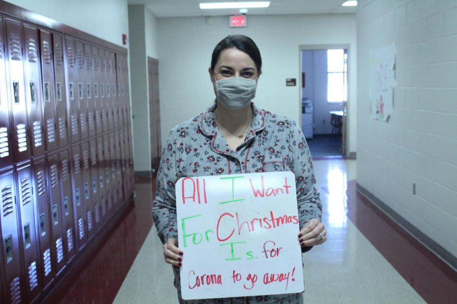 Whitney Gdanski, seventh-grade English, has a Christmas wish that is at the top of many lists this holiday season.