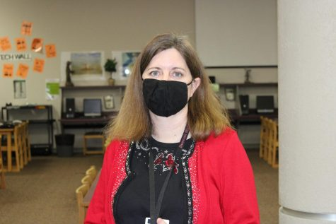 Barbara Gee, DMS librarian, is hoping overdue books will be returned.