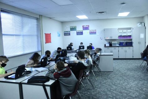 Students in Tammy Sparks TweenLife class work on their Chromebooks.