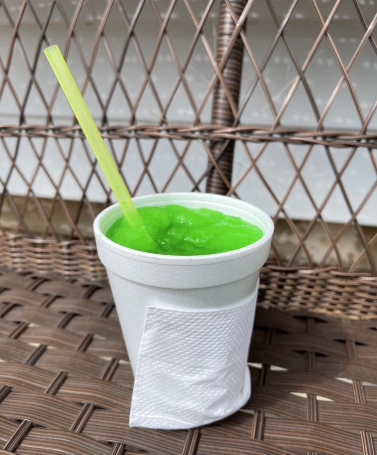 The Salty Dog snow cone is a popular flavor at Summer Sno.