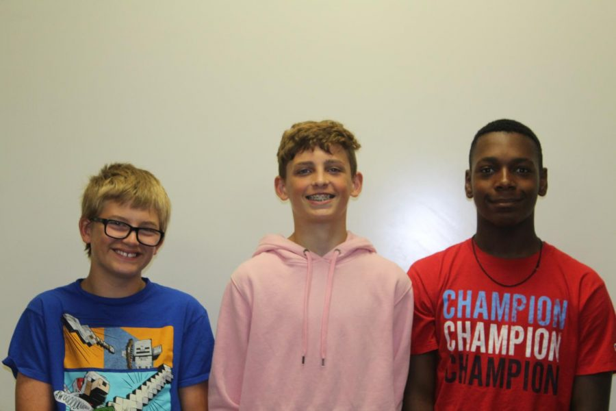 Tavion Holland, Blake Wilson, and Derek Johnson